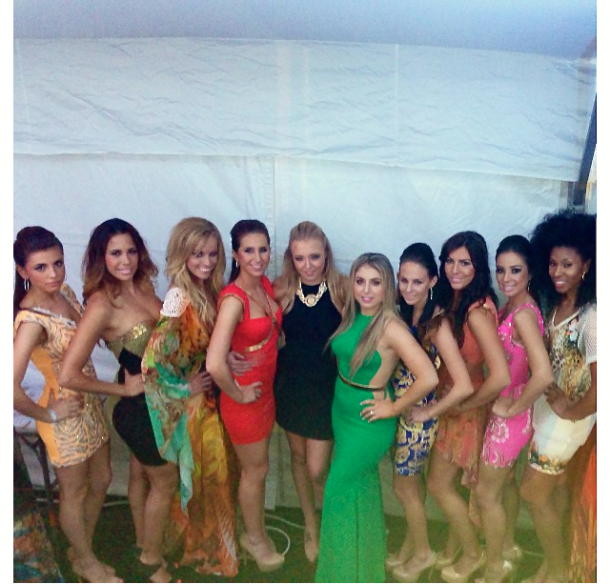 Maital Benaroya (Reve Boutique Owner and Fashion Show Coordinator) with her elegant models.