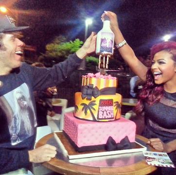 Perez Hilton , Christina Milian Summer Bash Cake