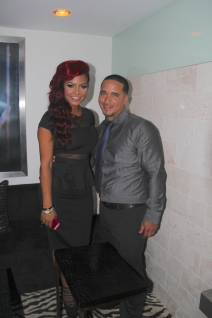 Christina Milian (The Voice) with Photographer; Rogers Perez
