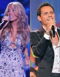 Thalia and Marc Anthony