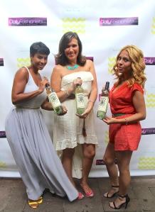 A Mommiez Fashion Diary (Yessenia Ramos) with Kyrzyda Rodriguez (Glam Fairy) and Dana Prigge (DailyFashionista.com) enjoying BerryMore Wine